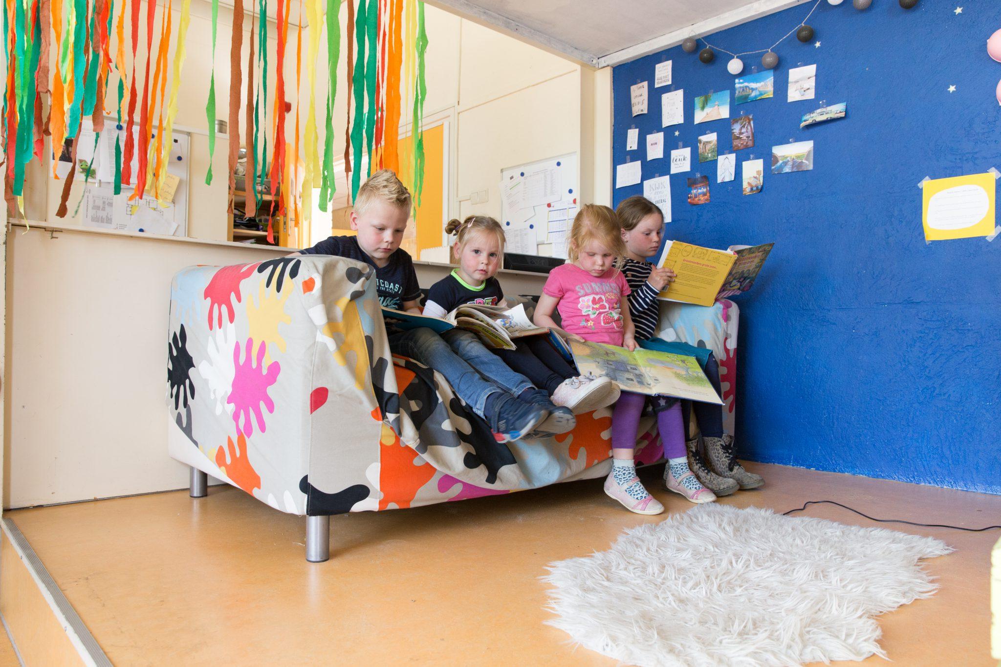 kinderen op de bak BSO Villa Eigen-Wijs
